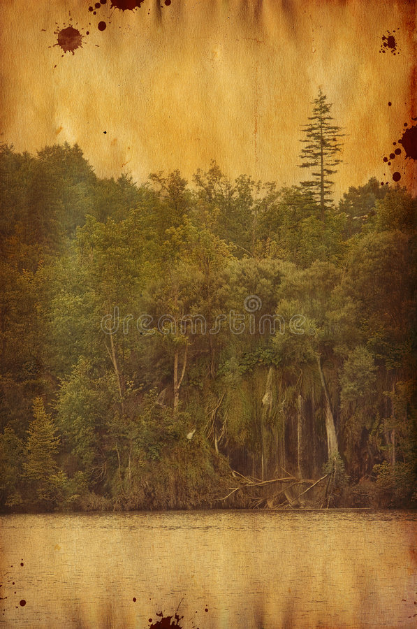 rocznik krajobrazu obrazy stock