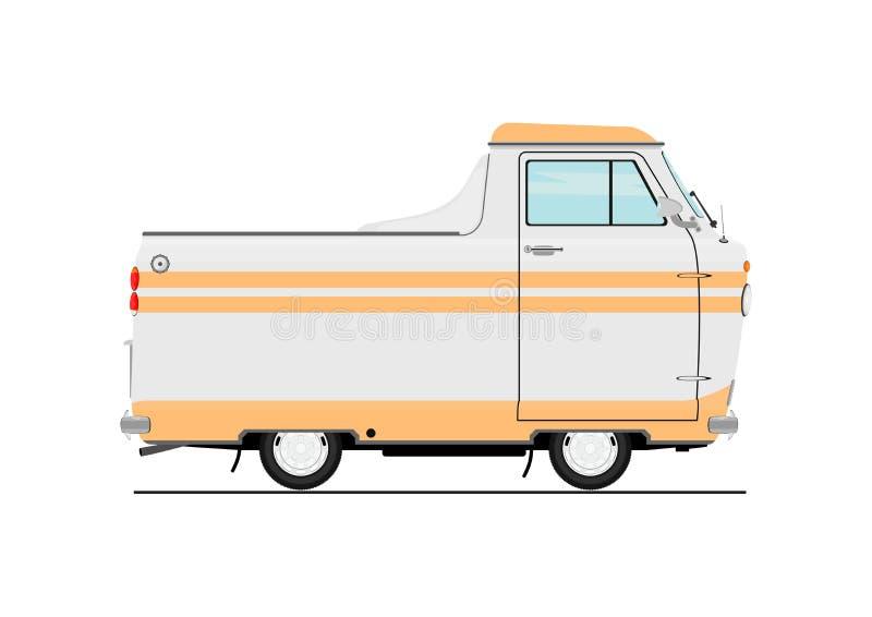 Rocznik kreskówki samochód dostawczy royalty ilustracja