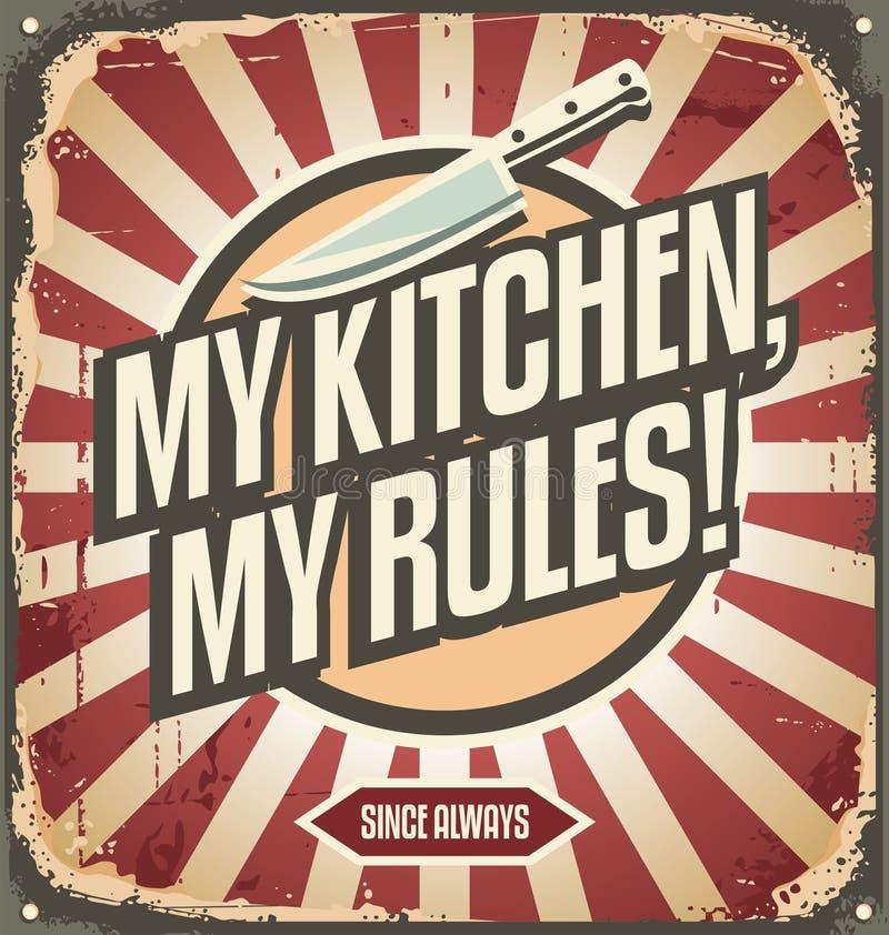 Rocznik kuchni znak royalty ilustracja
