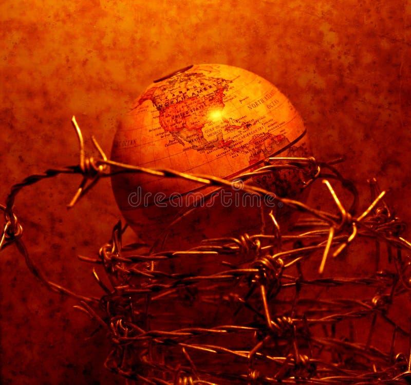 Rocznik kula ziemska obraz stock