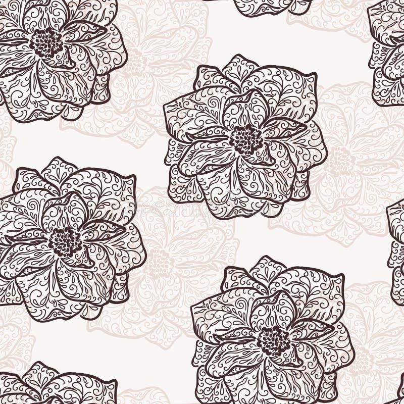 Rocznik kwiecista ilustracja kwitnienie kwiaty royalty ilustracja