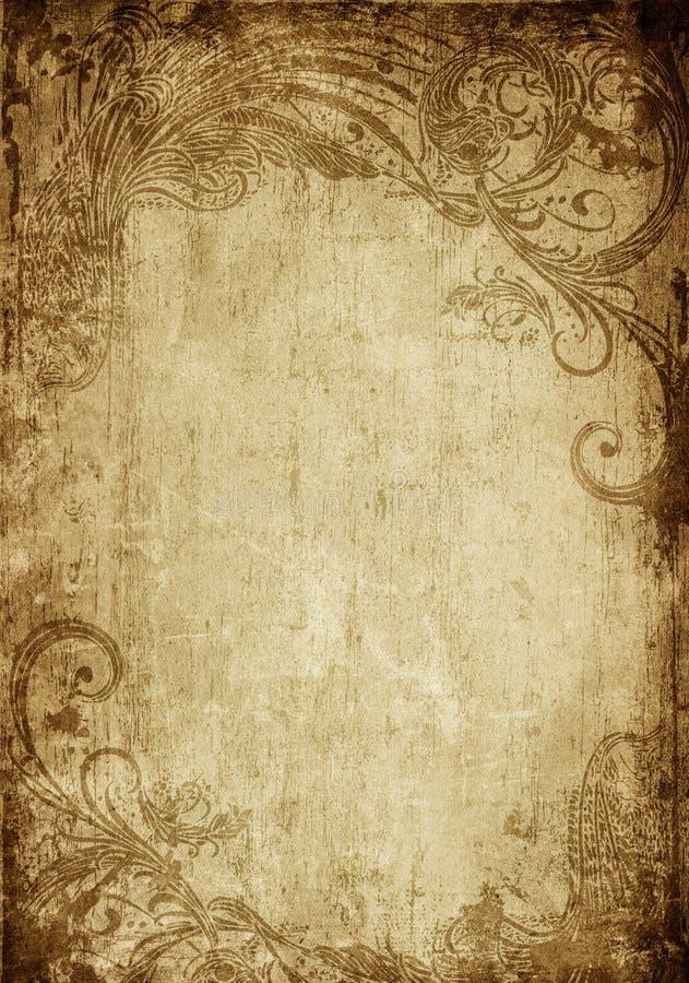 rocznik kwiecisty ilustracja wektor