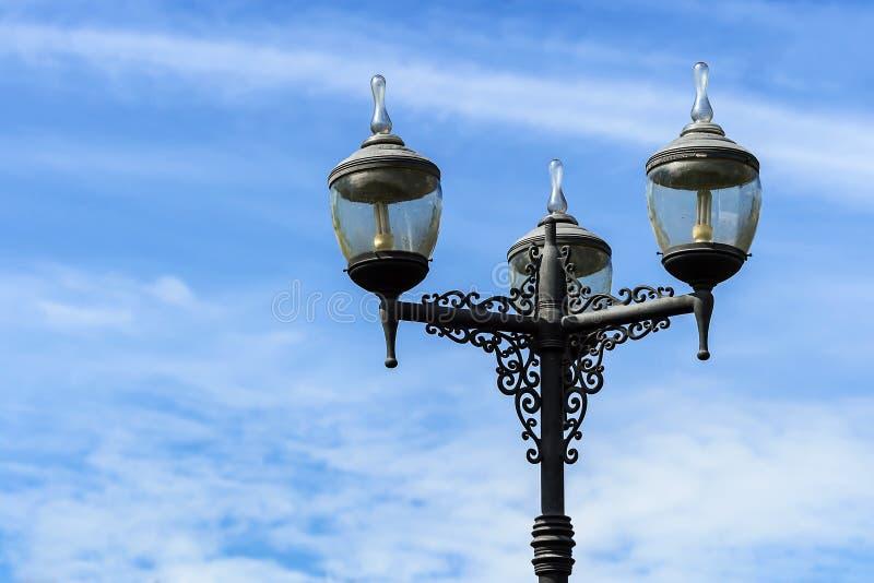 Rocznik latarnia uliczna zdjęcie royalty free