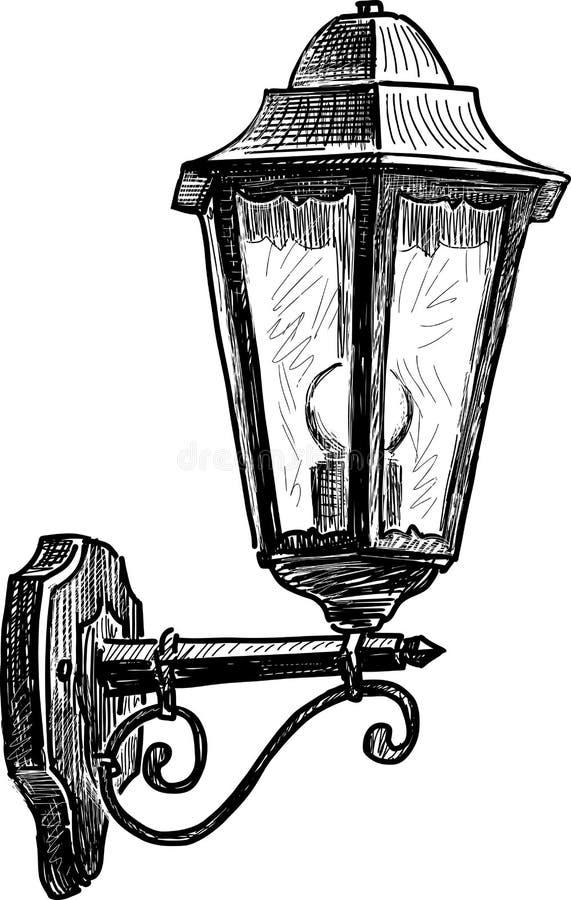 Rocznik latarnia uliczna royalty ilustracja