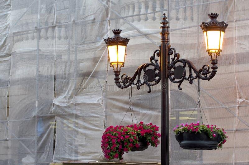 Rocznik latarnia uliczna fotografia royalty free