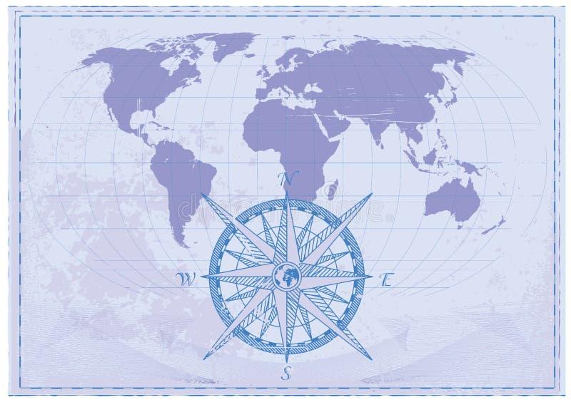 Rocznik mapa ilustracji