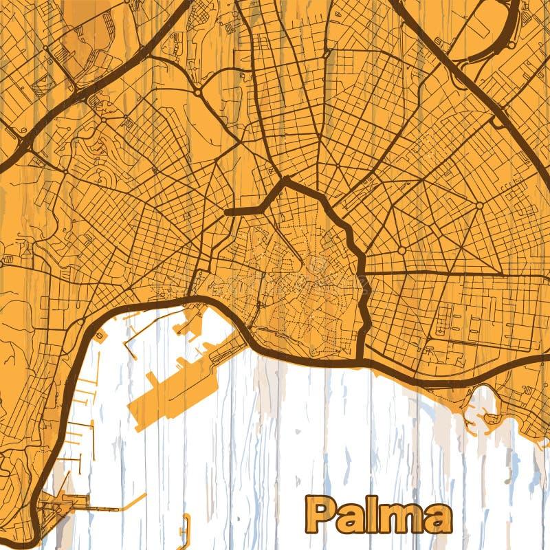 Rocznik mapa Palma royalty ilustracja