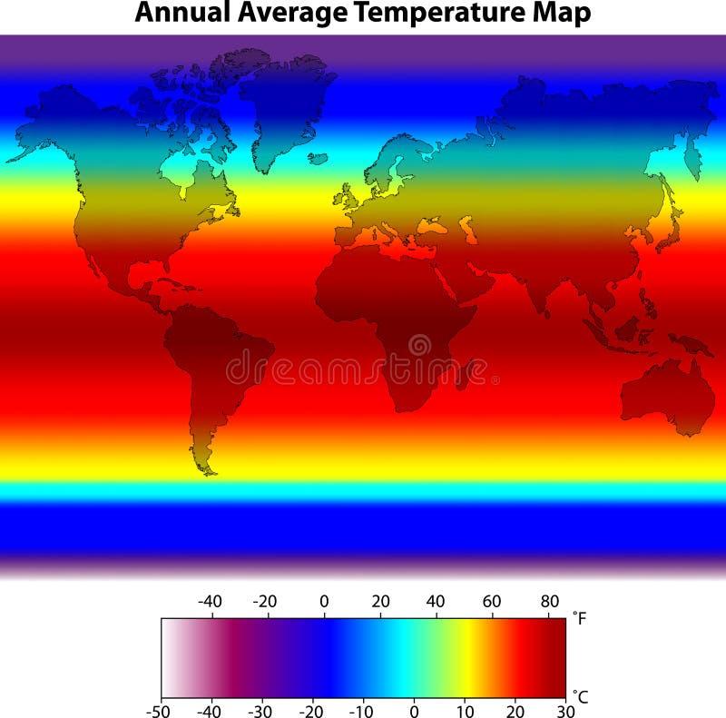 Rocznik Mapa Średnia Temperaturowa Zdjęcia Royalty Free