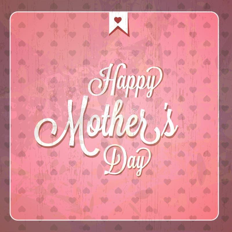 Rocznik matek dnia Szczęśliwe karty royalty ilustracja