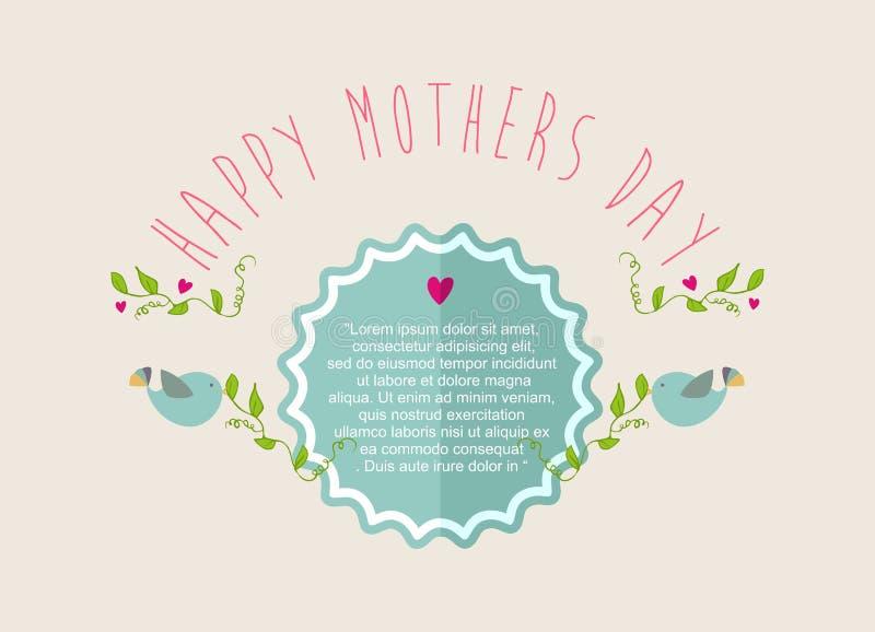 Rocznik matek dnia Szczęśliwy kartka z pozdrowieniami royalty ilustracja