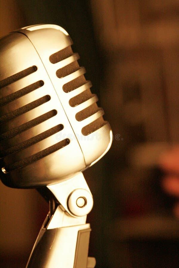 rocznik microfono fotografia stock