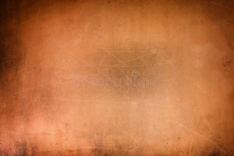 Rocznik miedziana tekstura, brązowy metal powierzchni tło obrazy royalty free