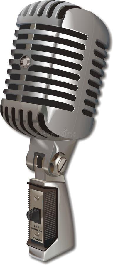 rocznik mikrofonu royalty ilustracja