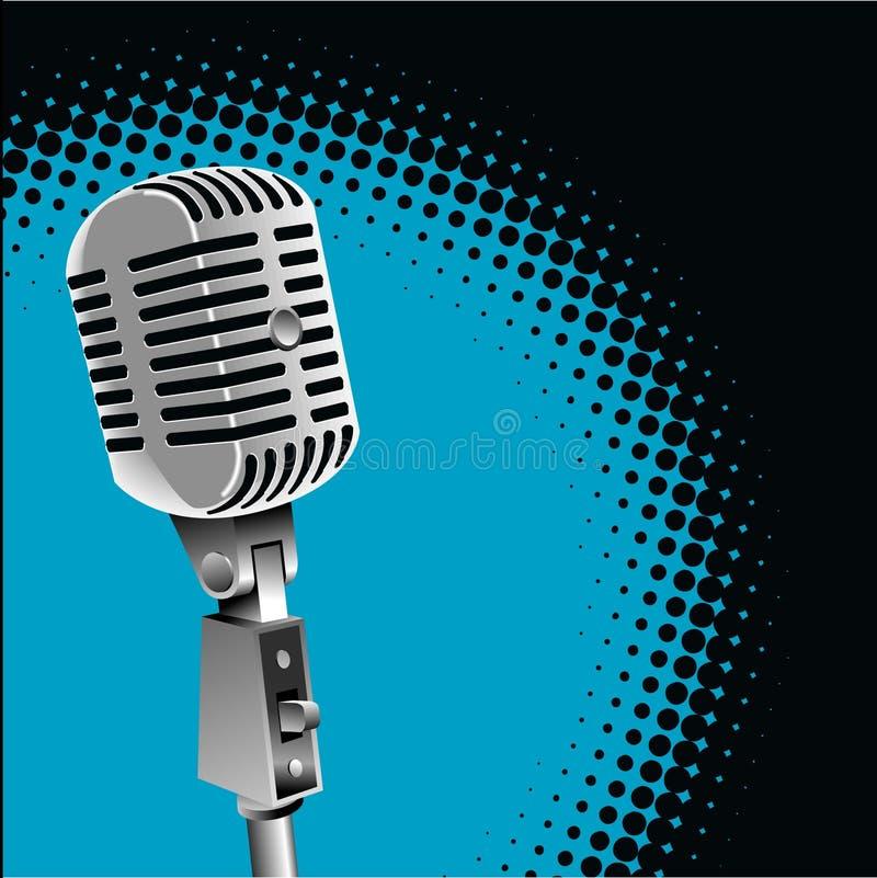 rocznik mikrofonu tło royalty ilustracja