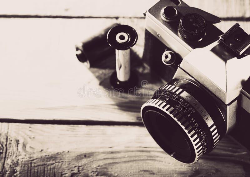 Rocznik 35 mm fotografii ekranowa kamera obraz royalty free