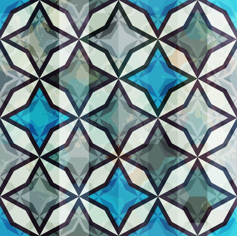 Rocznik mozaika bezszwowa royalty ilustracja