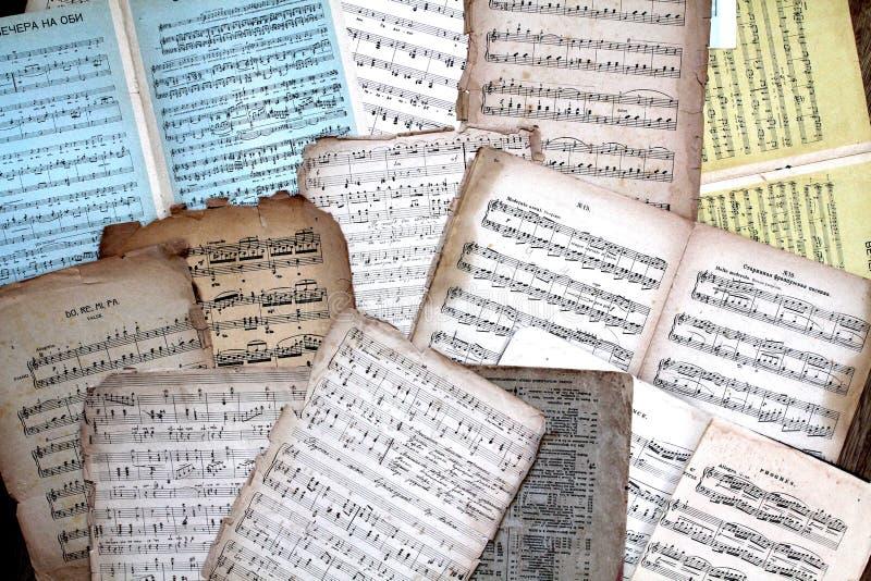 Rocznik muzyki wyniki obraz stock
