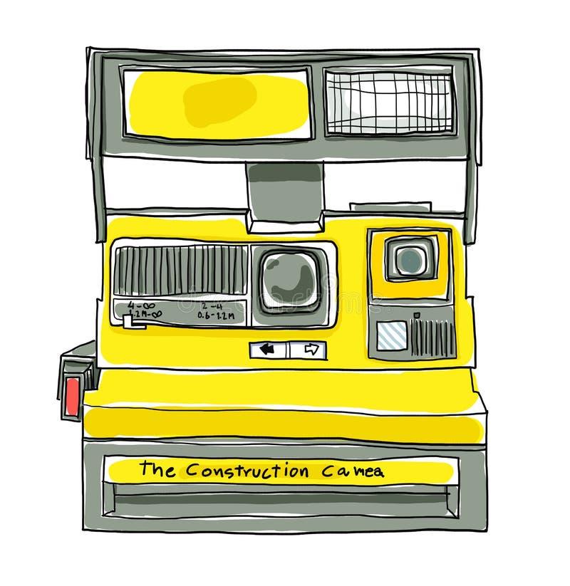 Rocznik Natychmiastowej kamery filmu sztuki ilustracja ilustracja wektor