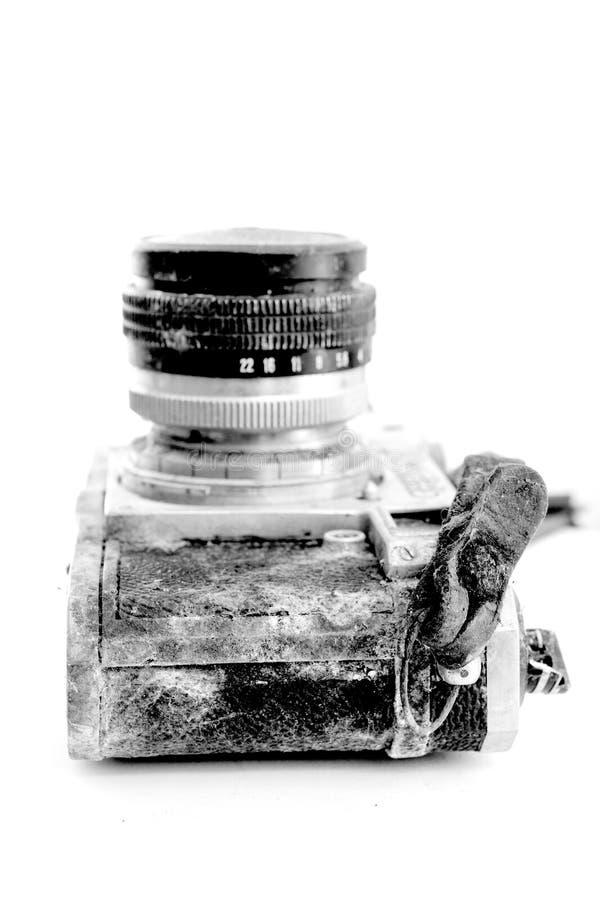 Rocznik ośniedziała i zakurzona ekranowa kamera fotografia stock