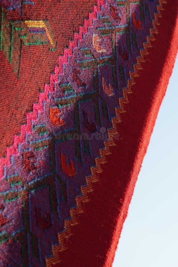 Rocznik, orientalny, kolorowy handmade tradycyjny woolen dywanik, zdjęcia royalty free