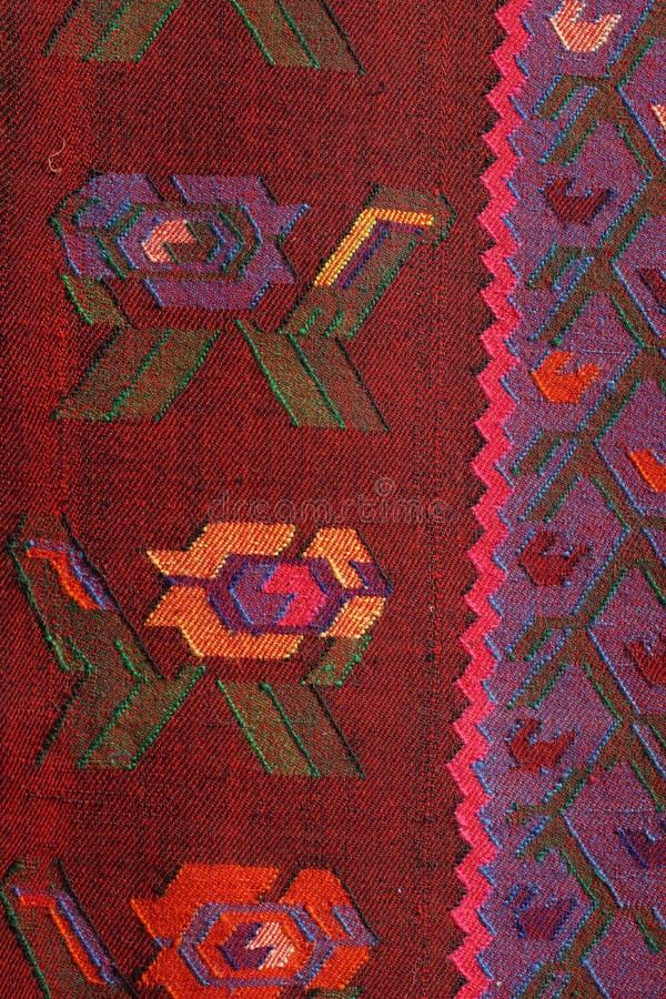 Rocznik, orientalny, kolorowy handmade tradycyjny woolen dywanik, obraz stock