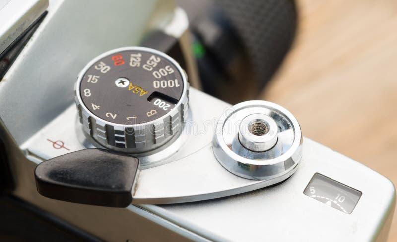 Rocznik ostrości 35mm SLR kamery wiatru dźwigni Ręczny Viewfinder obraz stock