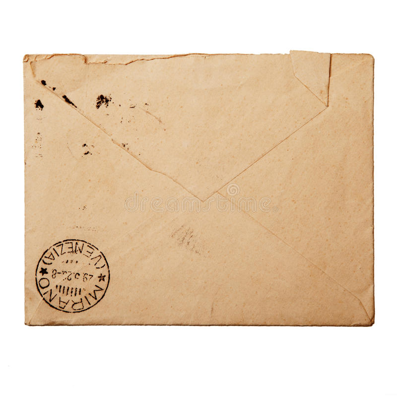 Rocznik paczka dla korespondenci zdjęcia royalty free
