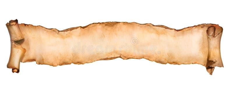 Rocznik papierowa ślimacznica odizolowywająca na bielu zdjęcie stock