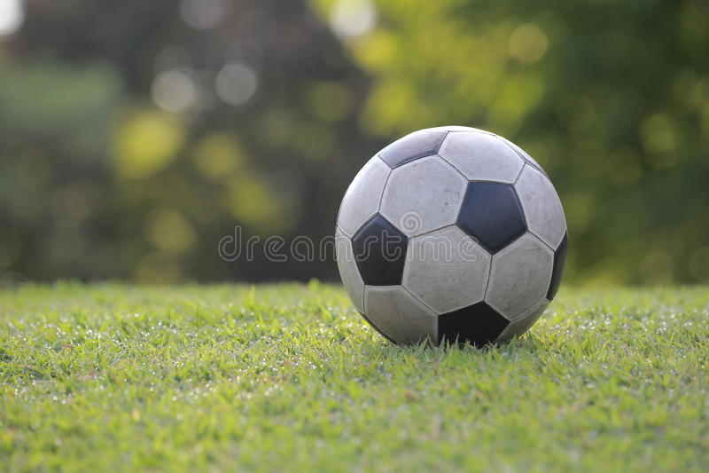 Rocznik piłki nożnej piłka fotografia stock