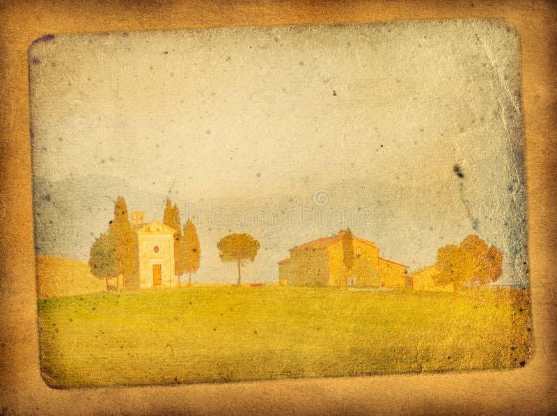 Rocznik pocztówka royalty ilustracja