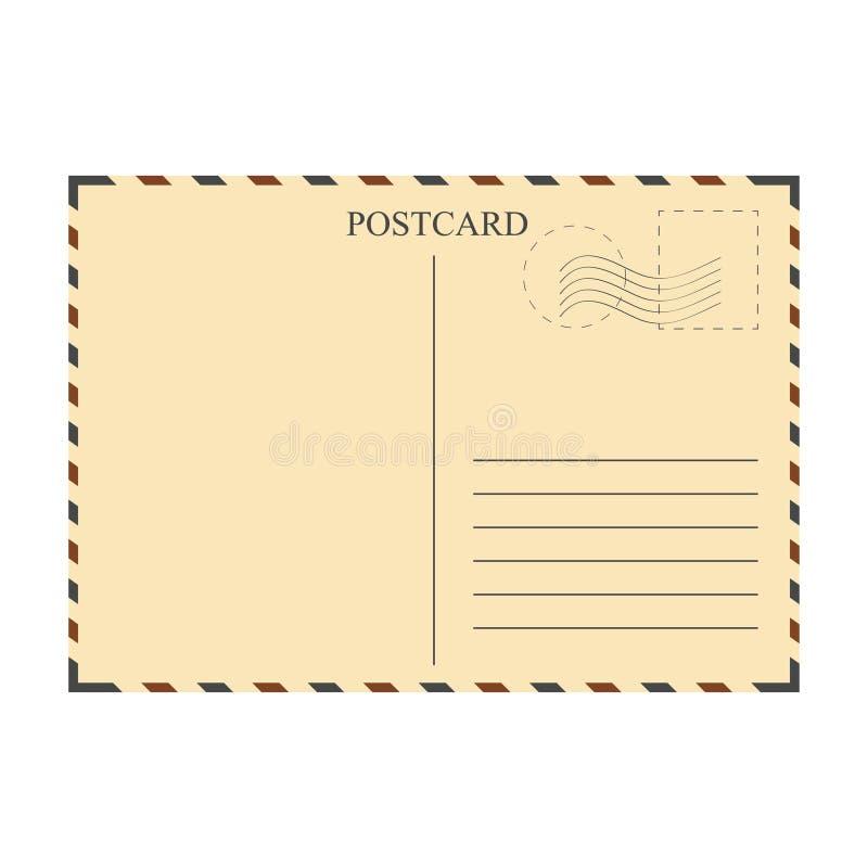 Rocznik pocztówka, szablon ilustracja wektor