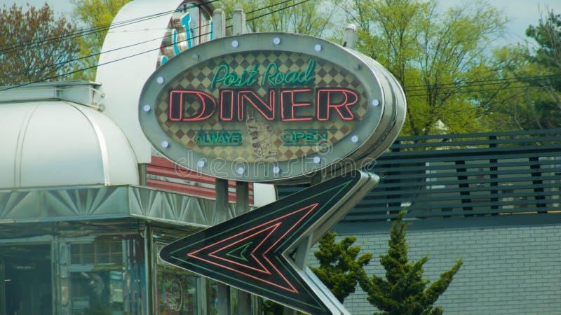 Rocznik poczty drogi gość restauracji Norwalk, Connecticut zdjęcie royalty free
