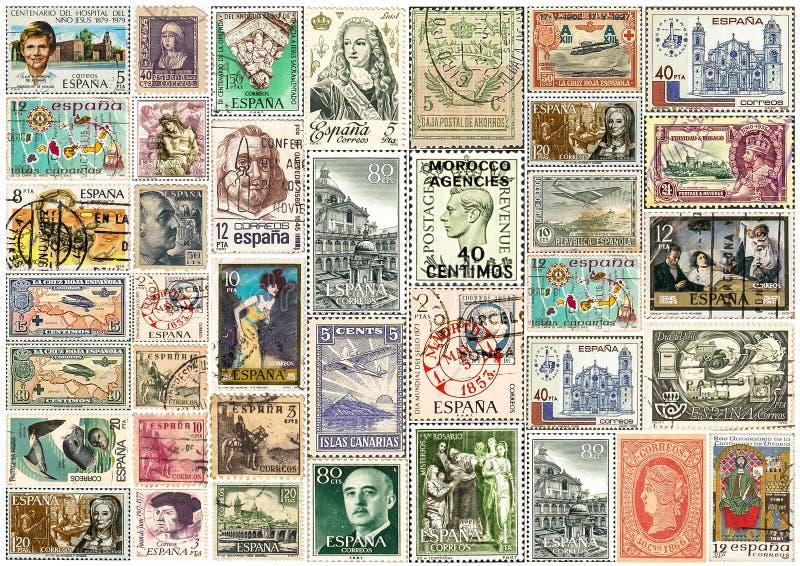 Rocznik poczty znaczków Francuska kolekcja, collaged prześcieradło obrazy royalty free