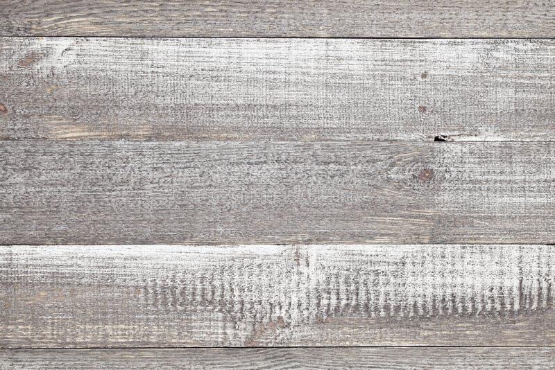 Rocznik popielate malować nieociosane stare drewniane horyzontalne deski izolują te zdjęcie stock