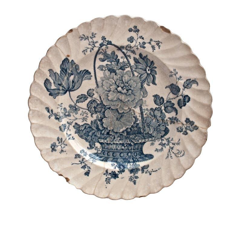 Rocznik porcelany talerz obraz royalty free