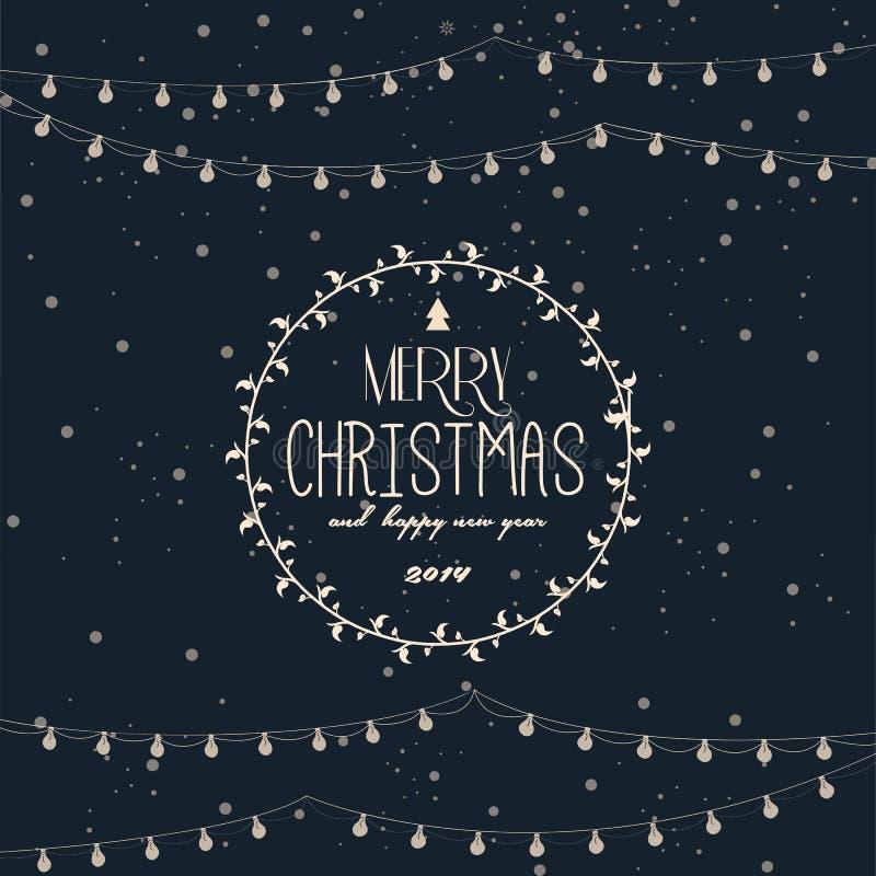 Rocznik projektująca kartka bożonarodzeniowa ilustracji