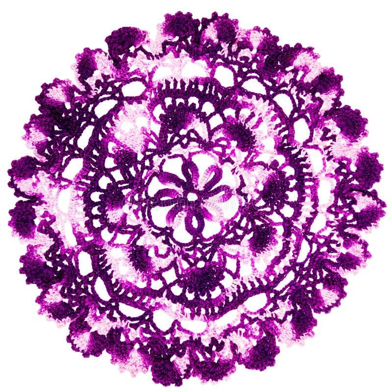 Rocznik purpur trykotowa pielucha zdjęcia stock