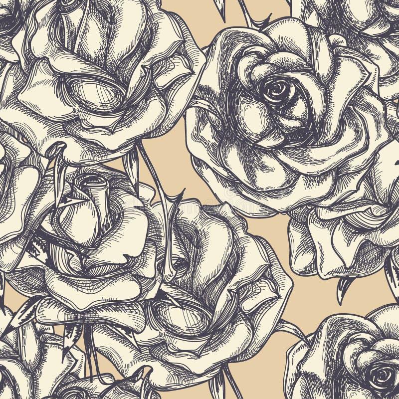 Rocznik róż tło royalty ilustracja
