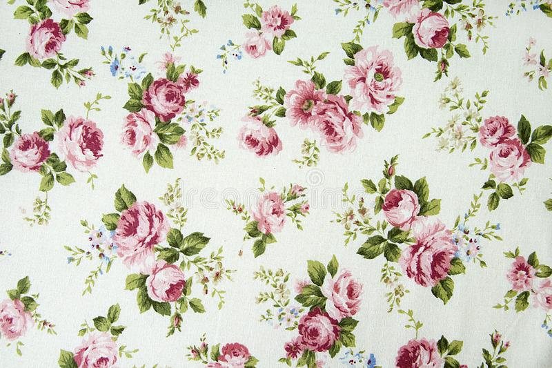 Rocznik róży wzór na tkaniny tle zdjęcia royalty free