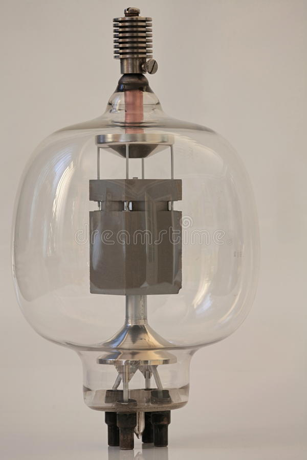 Rocznik radiowa lampa obraz stock