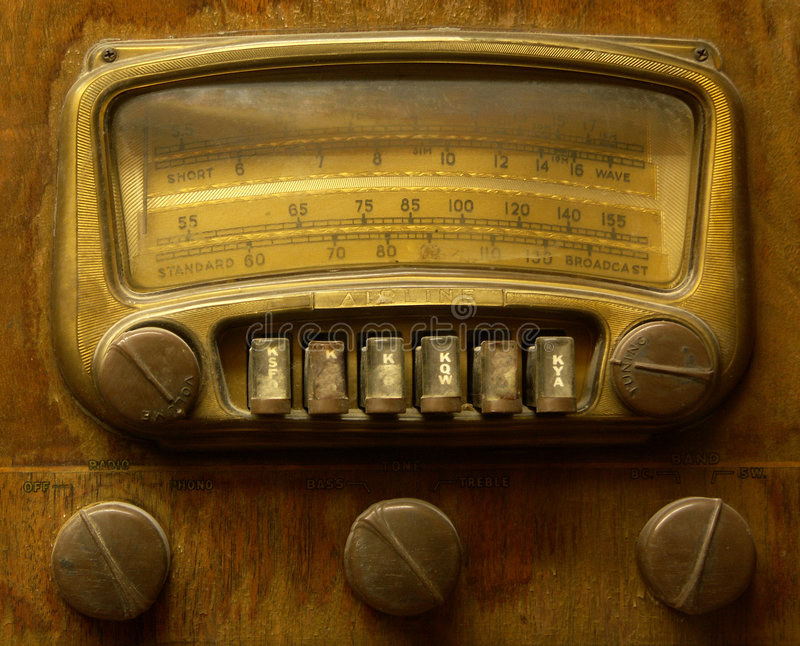 rocznik radiowego zdjęcie stock