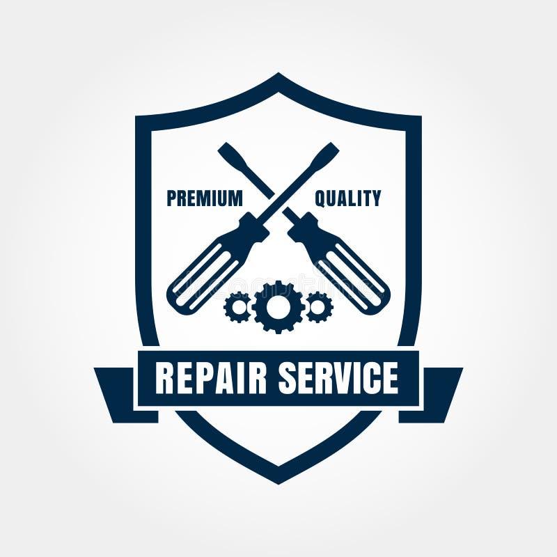 Rocznik remontowej usługa osłony stylowa samochodowa etykietka Wektorowy loga desig ilustracji