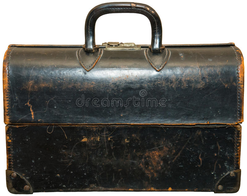 Rocznik Retro Doktorska torba Odizolowywająca obrazy stock