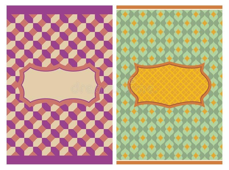 Rocznik retro karty ilustracja wektor