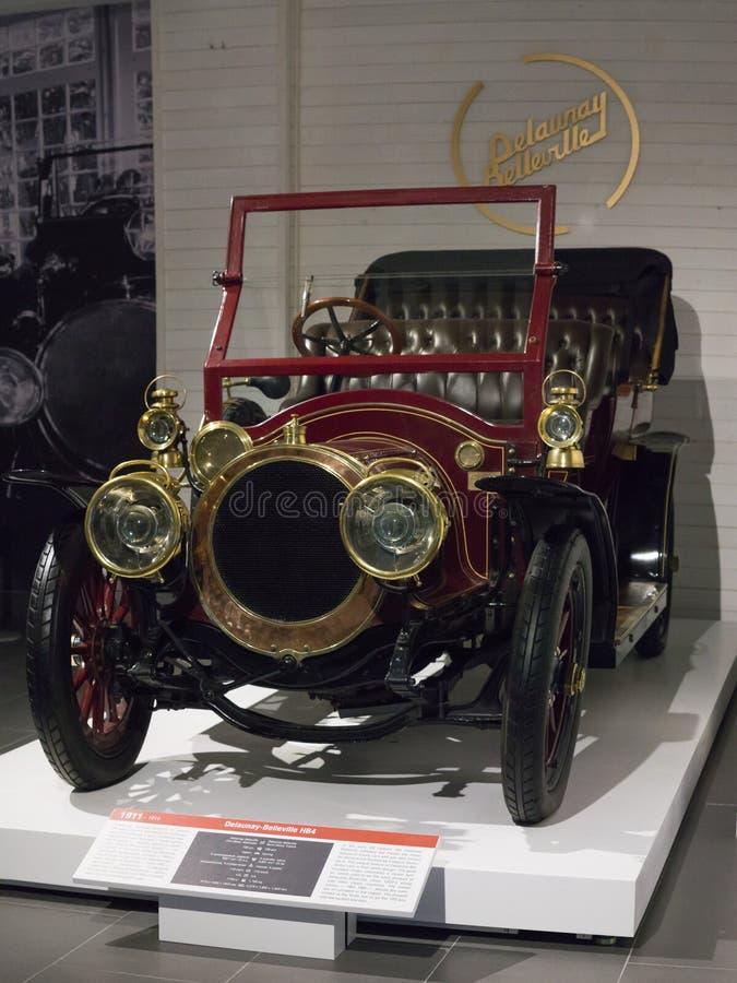 Rocznik Retro Samochodowy Belleville HB4 przy muzeum fotografia royalty free