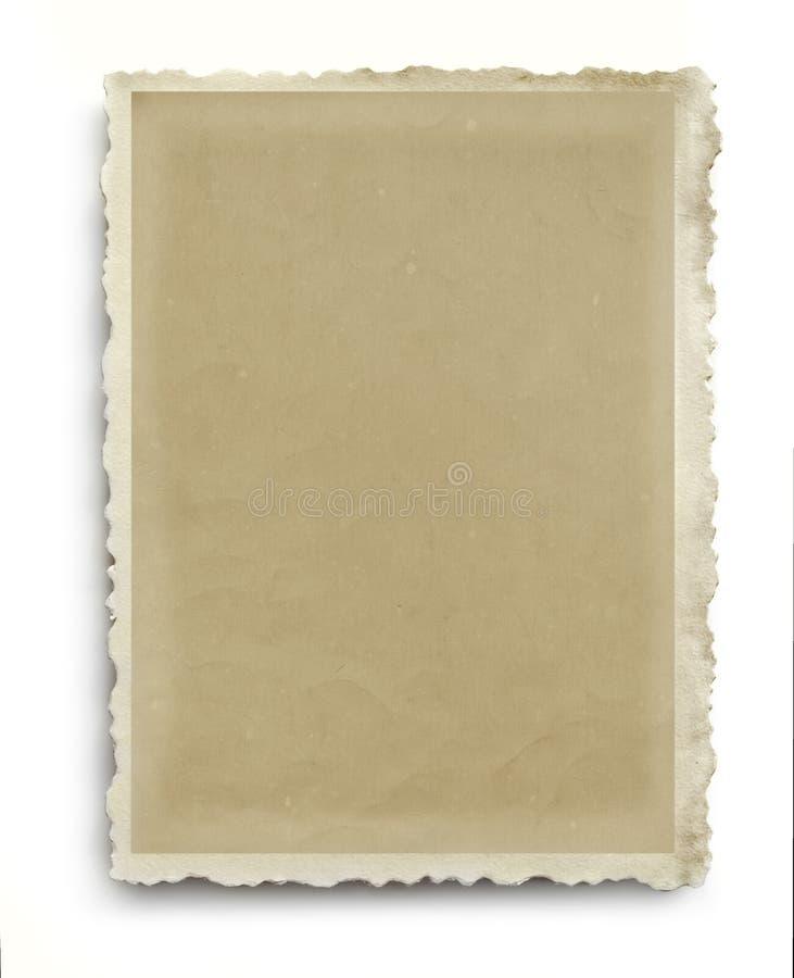 Rocznik Scalloped fotografii rama Odizolowywająca obrazy stock