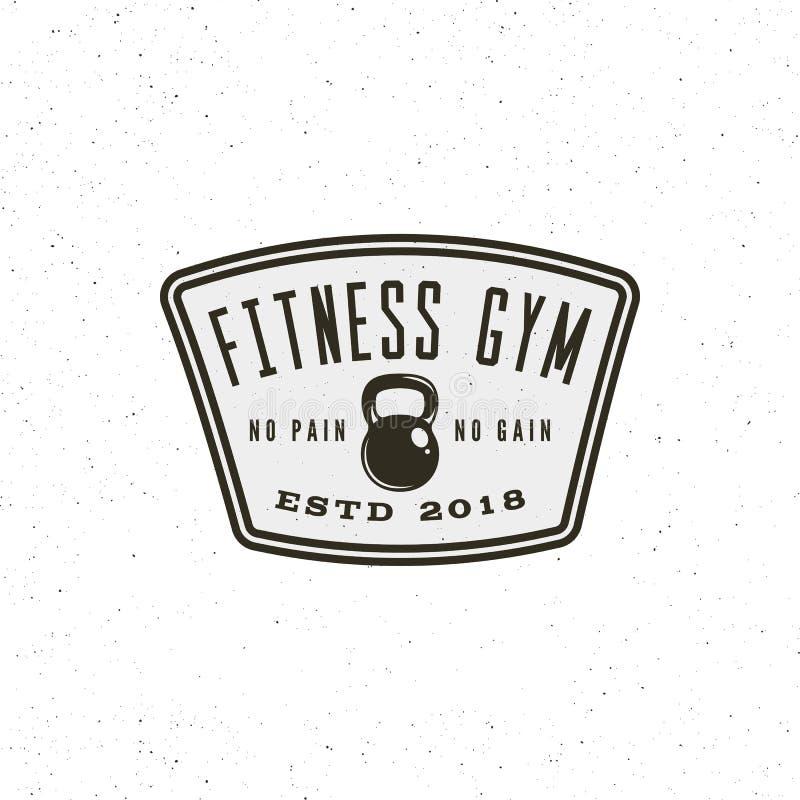 Rocznik sprawności fizycznej gym logo retro projektujący sporta emblemat również zwrócić corel ilustracji wektora ilustracji