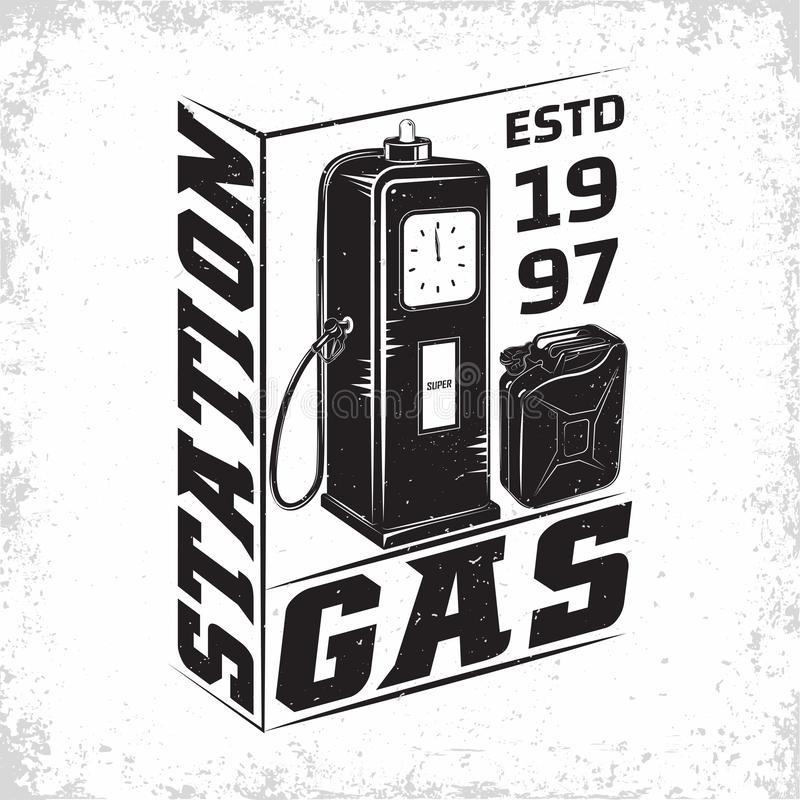 rocznik stacji paliwowej emblemata projekt zdjęcie stock
