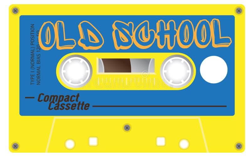 Rocznik starej szkoły kaseta z imieniem na nim royalty ilustracja