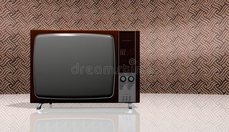 rocznik stary telewizor ilustracja wektor